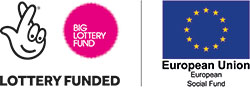 Big Lottery Fund, lottery funded, European Social Fund logo