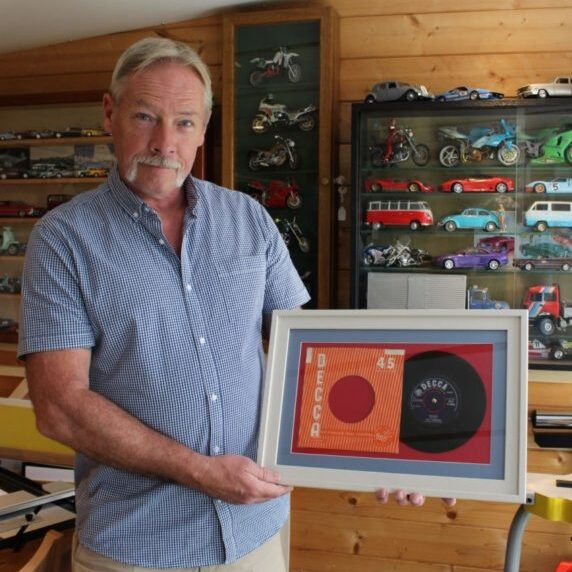 Mike with framed record
